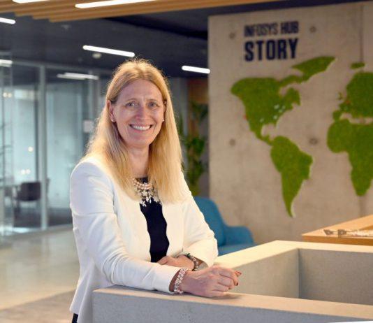 Für Andrea Hendrickx, Leiterin von Infosys Deutschland, ist Düsseldorf als Standort ein Glücksgriff.